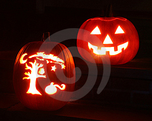 Two Pumpkins Royalty Free Stock Photos - Image: 8654098