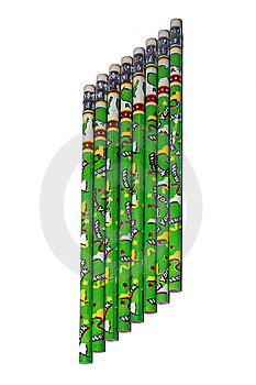 Eight Green Pencils Royalty Free Stock Photos - Image: 8654378