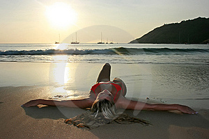 On The Beach Stock Images - Image: 8654414