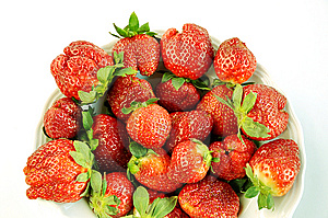 Plate Of  Strawberry. Royalty Free Stock Photo - Image: 8654425