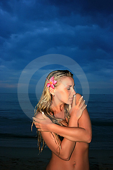 Young Lady In Night Royalty Free Stock Photography - Image: 8654467