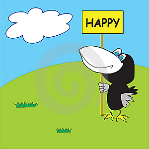 Very Happy Crow Royalty Free Stock Image - Image: 8654606