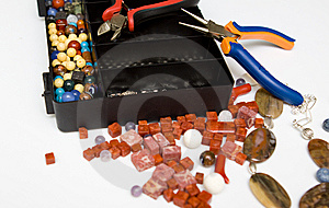 Jewellery Making Royalty Free Stock Image - Image: 8654856