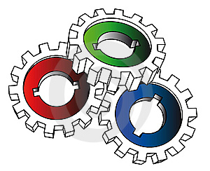 Cogwheels - Isolated Illustration Royalty Free Stock Photo - Image: 8654975