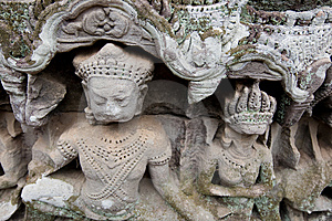 Carving At Angkor Stock Photography - Image: 8655832