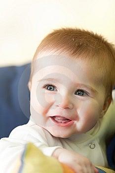 Portrait Of Joyful Blue-eyes Baby Royalty Free Stock Photos - Image: 8655858