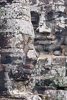 Faces Of Angkor Thom Royalty Free Stock Images - Image: 8655899