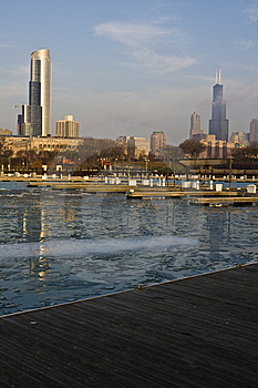 Winter Morning In Chicago Stock Photo - Image: 8656150