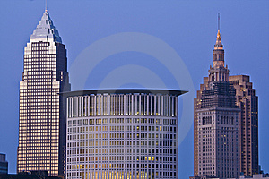 Skyline Of Cleveland Royalty Free Stock Photos - Image: 8656248
