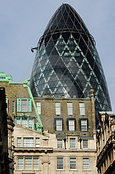 The Gherkin Stock Photo - Image: 8656280