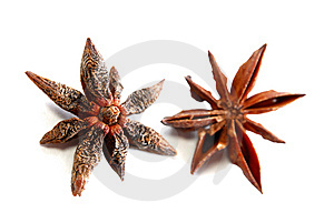 Pair Of Anise Star Royalty Free Stock Photography - Image: 8656467