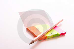 Post-it With Pen Royalty Free Stock Photo - Image: 8656615