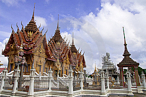 Traditional Thai Style Architecture Stock Image - Image: 8656671
