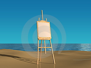 Easel Board Royalty Free Stock Image - Image: 8657276
