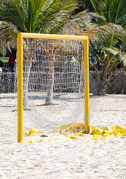 Football Gate At The Beach Royalty Free Stock Photo - Image: 8657315