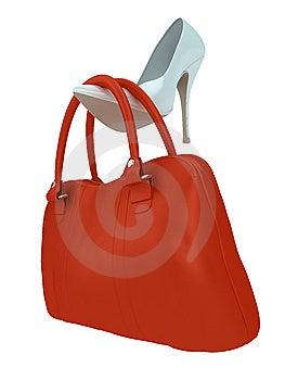 женщины ботинка мешка S Стоковые Фото - изображение: 8657593