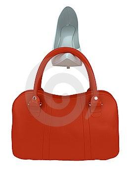 Die Tasche Und Der Schuh Der Frauen Stockfotos - Bild: 8657643