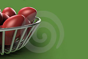 Red Easter Eggs Royalty Free Stock Photography - Image: 8657667