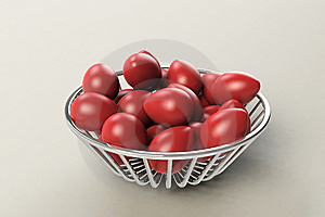 Red Easter Eggs Royalty Free Stock Photography - Image: 8657677