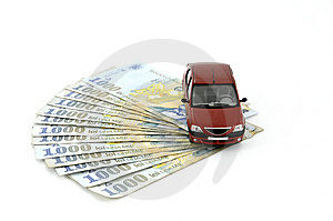 Car And Money Royalty Free Stock Images - Image: 8657709