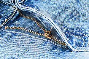 Zipper On Jeans Royalty Free Stock Photography - Image: 8658097