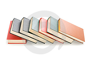 Books Isolated On White Background Stock Photo - Image: 8658120