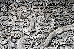 The Dragon Was Carved Out Of Stone Stock Image - Image: 8658291