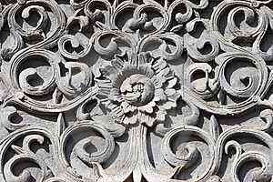 The Flowers Were Carved Out Of Stone Royalty Free Stock Photos - Image: 8658478