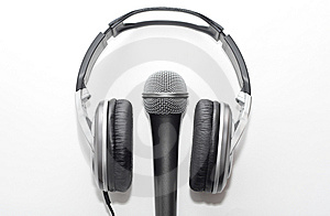 Headphones And Microphone Royalty Free Stock Photos - Image: 8659198