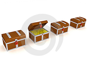 Treasure Chest Royalty Free Stock Photo - Image: 8659305