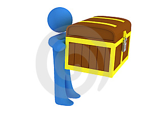 Person With Treasure Chest Stock Images - Image: 8659344