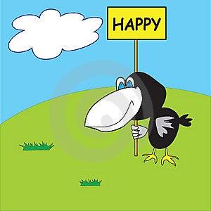 Happy Crow Stock Photography - Image: 8659802