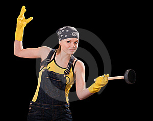 Young Woman With Air-cork Stock Photo - Image: 8660120