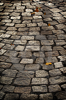 Aged Cobblestone Roadway Stock Images - Image: 8660124