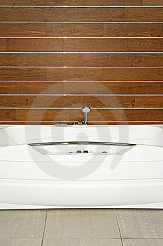 Wooden Bathroom Royalty Free Stock Image - Image: 8660226