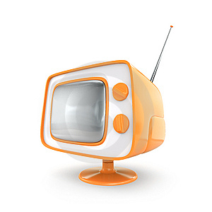 Stylish Retro TV. Stock Photo - Image: 8660250