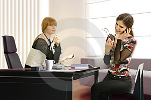 Businesswomen In The Office Stock Photos - Image: 8660273
