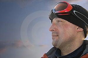 Courageous Skier Royalty Free Stock Photo - Image: 8660315