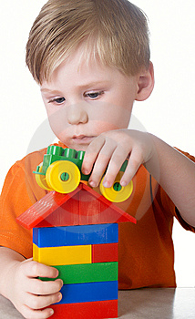 Boy Plays Royalty Free Stock Photos - Image: 8660578