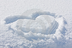 Snowheart Photo stock - Image: 8660710