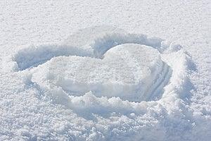 Snowheart Arkivfoto - Bild: 8660710