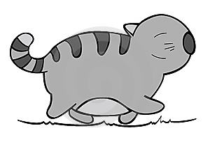 Vector Of Cartoon Cat 02. Stock Images - Image: 8660904