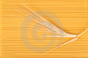 Spaghetti And Wheat Stem. Royalty Free Stock Photo - Image: 8660955