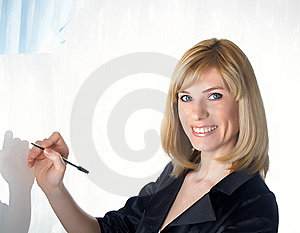 Portrait of the young beautiful businesswoman Royalty Free Stock Image