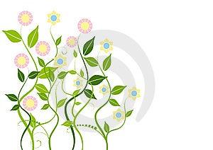Fond Floral Abstrait Images libres de droits - Image: 8661049