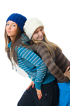 The Two Young Attractive Girls Stock Photos - Image: 8661273