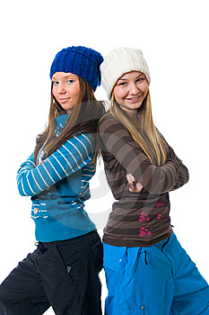 The Two Young Attractive Girls Royalty Free Stock Image - Image: 8661286