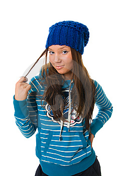 The Young Attractive Girl Royalty Free Stock Photos - Image: 8661348