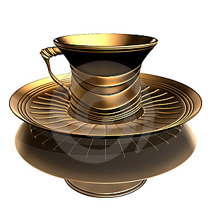 Image Of Antique Cup & Plate Stock Photo - Image: 8661430