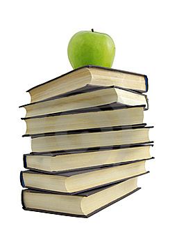 Book And Green Apple Royalty Free Stock Photography - Image: 8661447